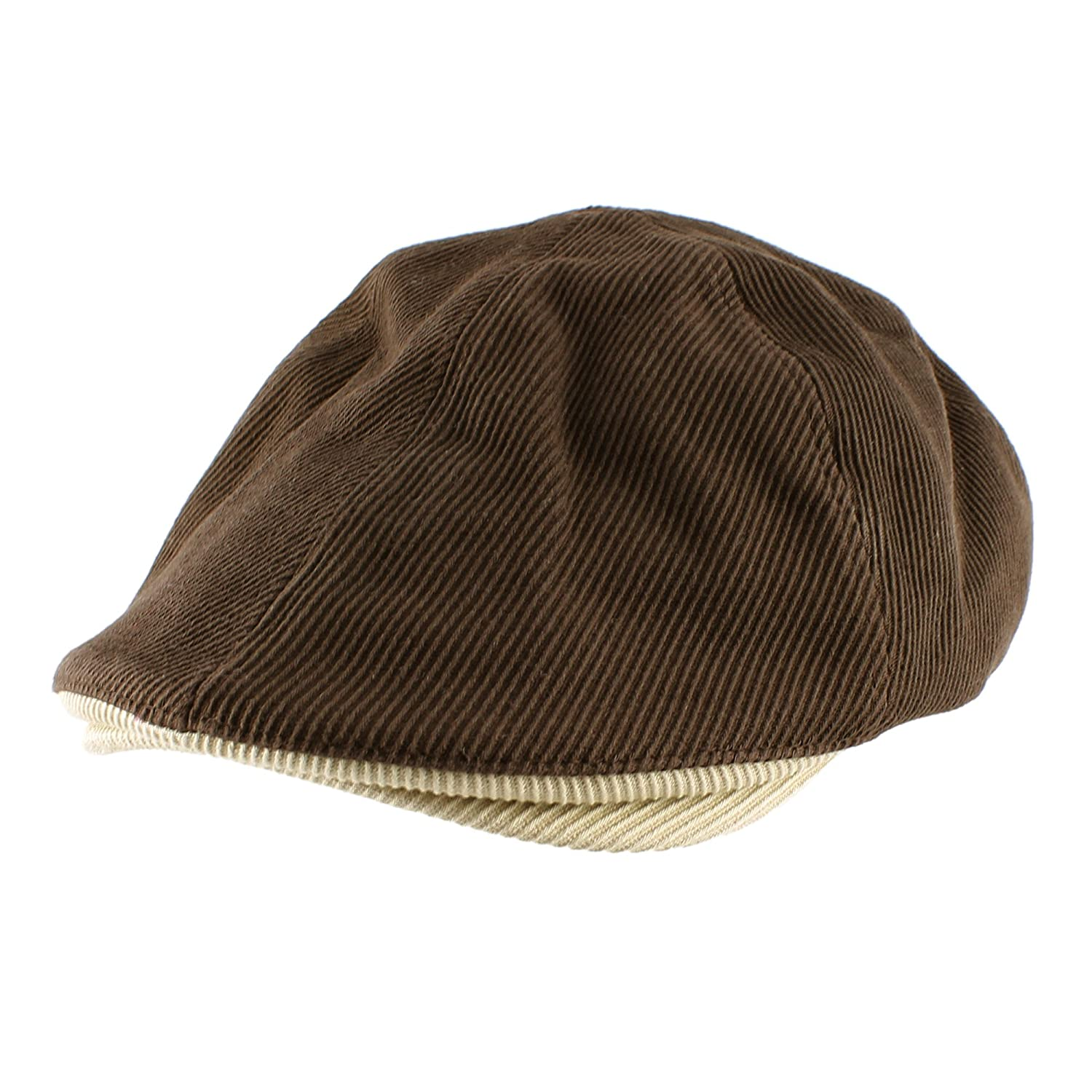 4211f48f510 Morehats Corduroy Cotton Flat Cap Cabbie Hat Gatsby Ivy Irish Hunting  Newsboy Hunting Beret - Brown at Amazon Women s Clothing store