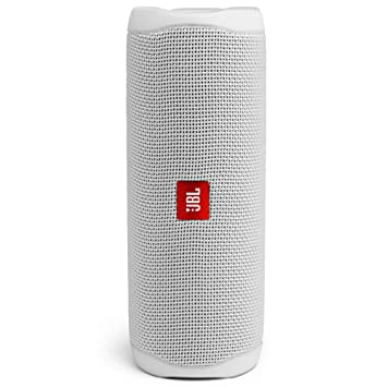 JBL Flip 5 20 W IPX7 Waterproof Bluetooth Speaker with PartyBoost  Without Mic, White  Home Audio