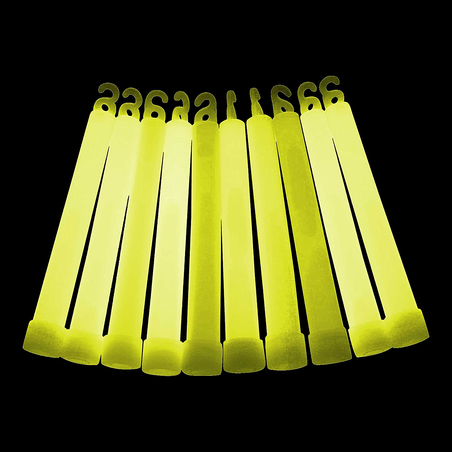 10x 6 Individually Wrapped Glow Sticks - Mixed or Single Colour (8 to choose from) (Mixed) by Glowtopia G-S6-15
