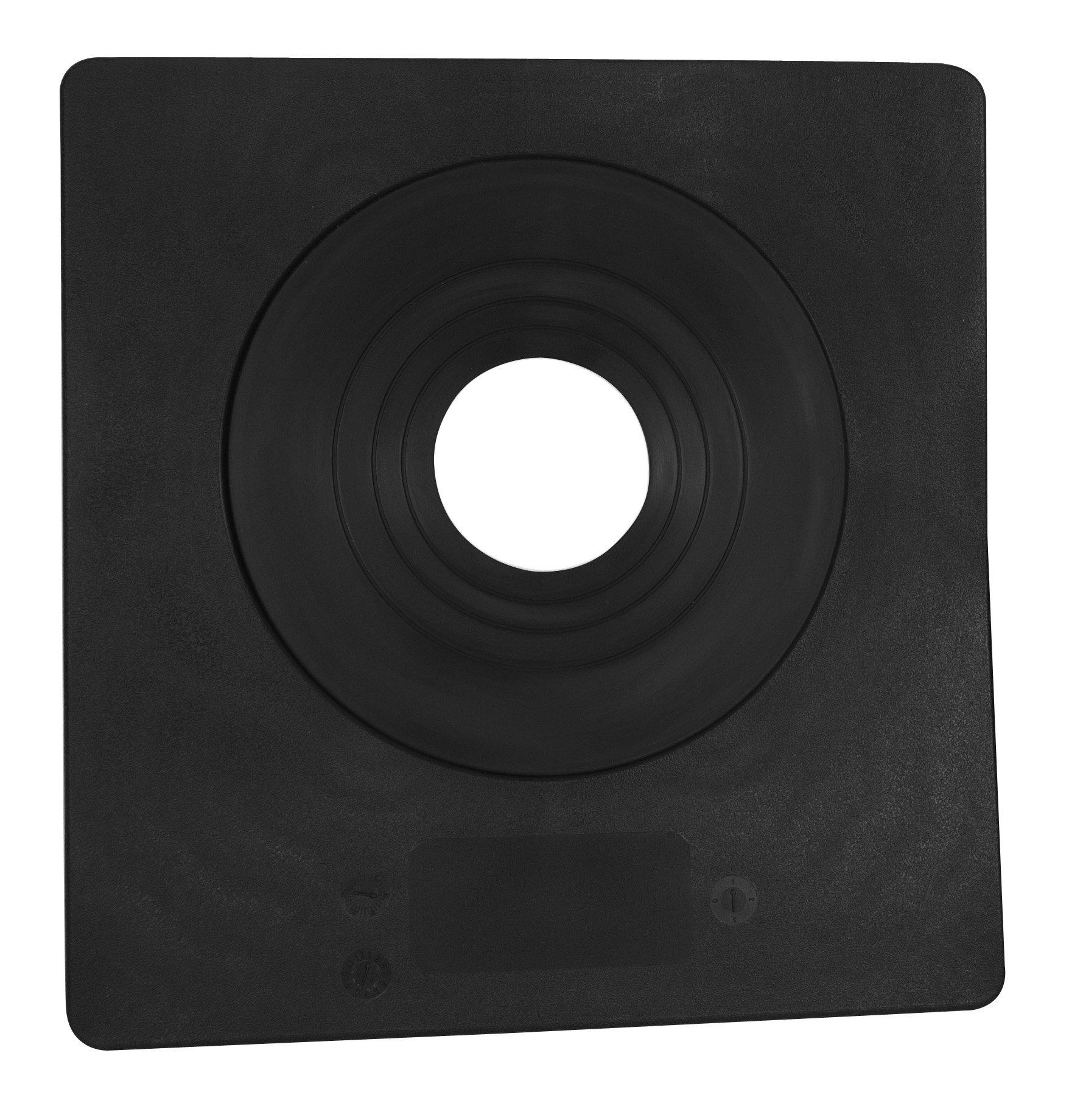 Oatey 12806 Hard Plastic/Elastomeric collar 3''- 6'' pipe diameter Sideflash Vertical Roof Flashing 12'' x 12.5'' Base by Oatey