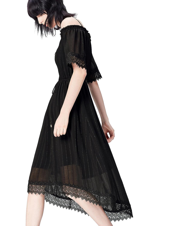 FIND Damen Schulterfreies Kleid aus Chiffon