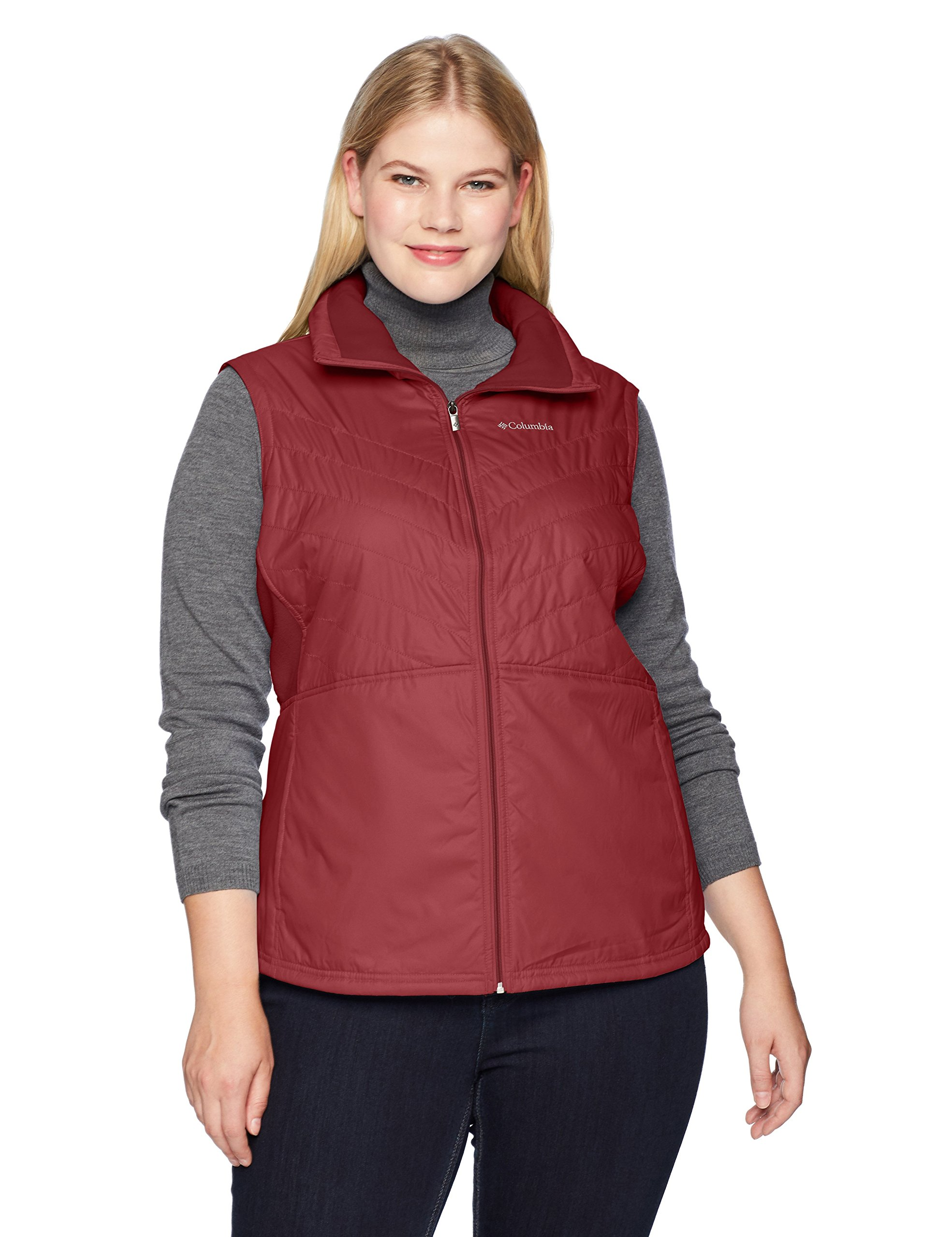 Columbia Women's Mix It Around II Plus Size Vest, Garnet red, 1X
