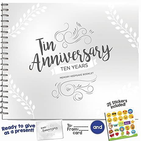 Amazon 10th anniversary gifts for couples by year ten year 10th anniversary gifts for couples by year ten year booklet with matching card for tin negle Image collections