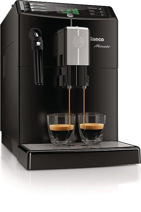 Saeco Minuto HD8761/18 - Cafetera (Independiente, Máquina espresso, 1,8 L, Molinillo integrado, 1850 W, Negro): Amazon.es: Hogar