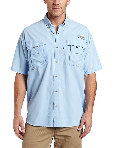Columbia Men's Bahama II Short Sleeve Fishing Shirt (Sail, Small)