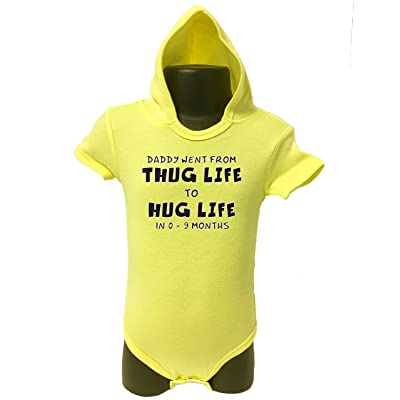 Allure & Grace From Thug Life To Hug Life Hoodie Onesie Funny Novelty Infant Baby Bodysuit