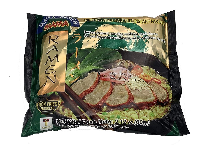 MAMA Noodles Ramen Style Non Fried Ramen Instant Noodles Myojo Duck Flavor | - 2.12oz (Pack of 10)