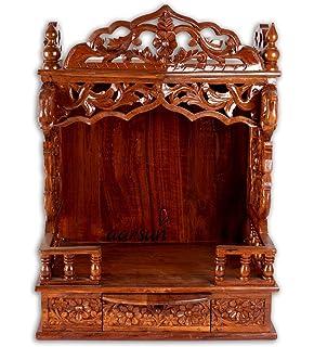 Wooden Temple / Home Temple / Wood Mandir / Pooja Ghar / Sheesham Wood Puja  Ghar