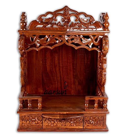Aarsun Woods Temple / Home Temple / Wood Mandir / Pooja Ghar / Sheesham Wood  Puja