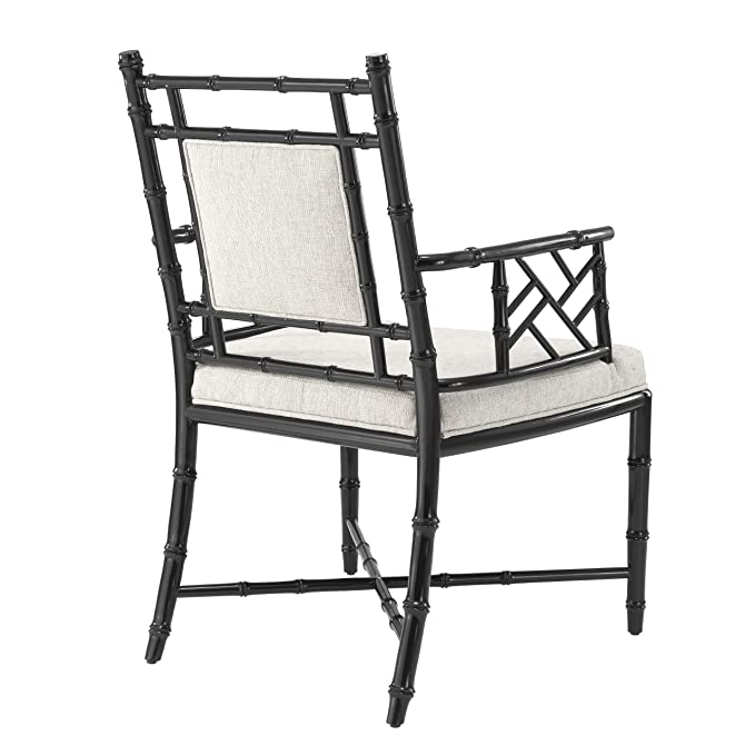 Amazon.com: Black Frame ARM Chair | EICHHOLTZ Germaine ...