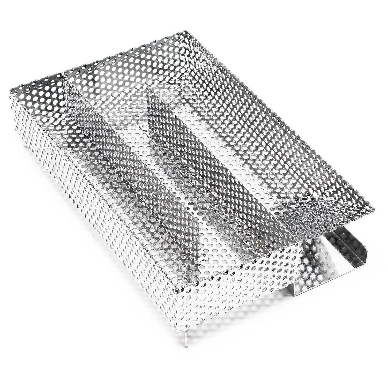 Affumicatore a freddo Generatore di fumo freddo Smoker V2A Acciaio inossidabile 20x12, 5cm