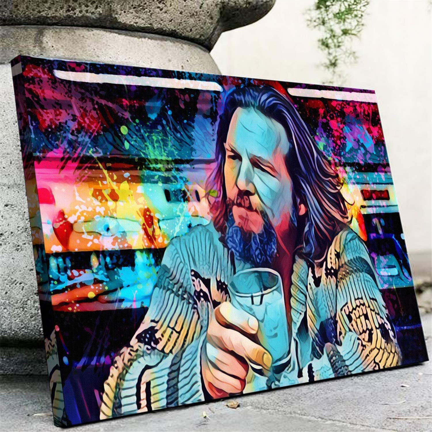 Canvas Posters Prints The Dude Movie Wall Art Painting Pictures For Living Room Decor Gifts Artwork No Frame 16x24inch