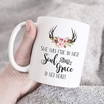 Amazoncom She Has Fire In Her Soul And Grace In Her Heart Mug