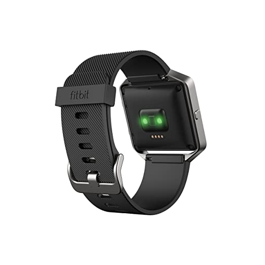 Fitbit Blaze Smart Fitness Watch Large, Black and Silver