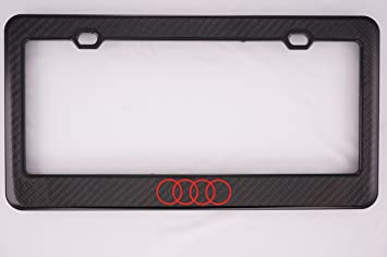 Audi Carbon Fiber License Plate Frame Front Only Frames Amazon - Audi license plate frame