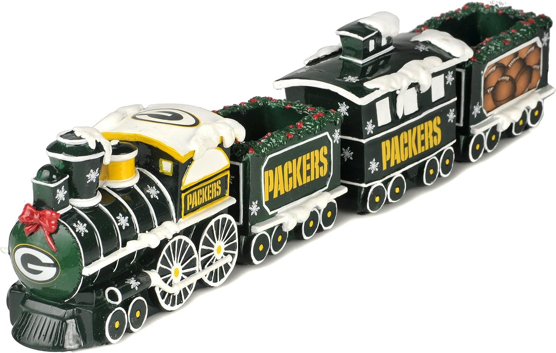 Green Bay Packers NFL Football Decorative Christmas Train Set 81b9NnAzgJL