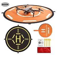Drone Landing Pad,80cm RC Hélicoptère piste pliable d'atterrissage pour DJI Mavic PRO / Mavic Air / SPARK /Mavic Pro Platinum / Phantom 3 Phantom 4 Inspire 1 Quadcopter