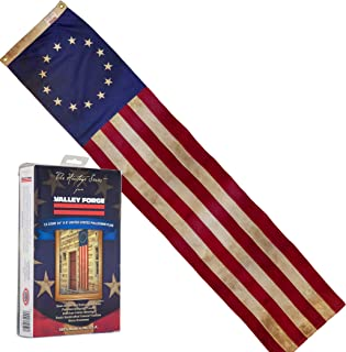 product image for Valley Forge, American Flag Pull-Down, 8', 100% Made in USA, Sewn Stripes and Embroirdered Stars