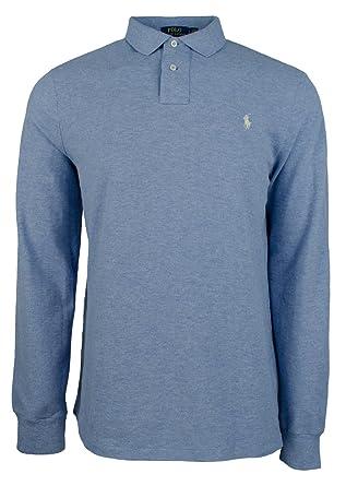 e706be8ff Polo Ralph Lauren Men s Custom Slim Fit Long Sleeve Polo Mesh Shirt-CB-L