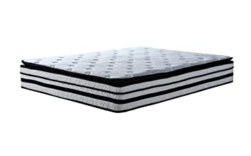 high density 13inch hybrid memory foam and innerspring mattress with plush pillow top