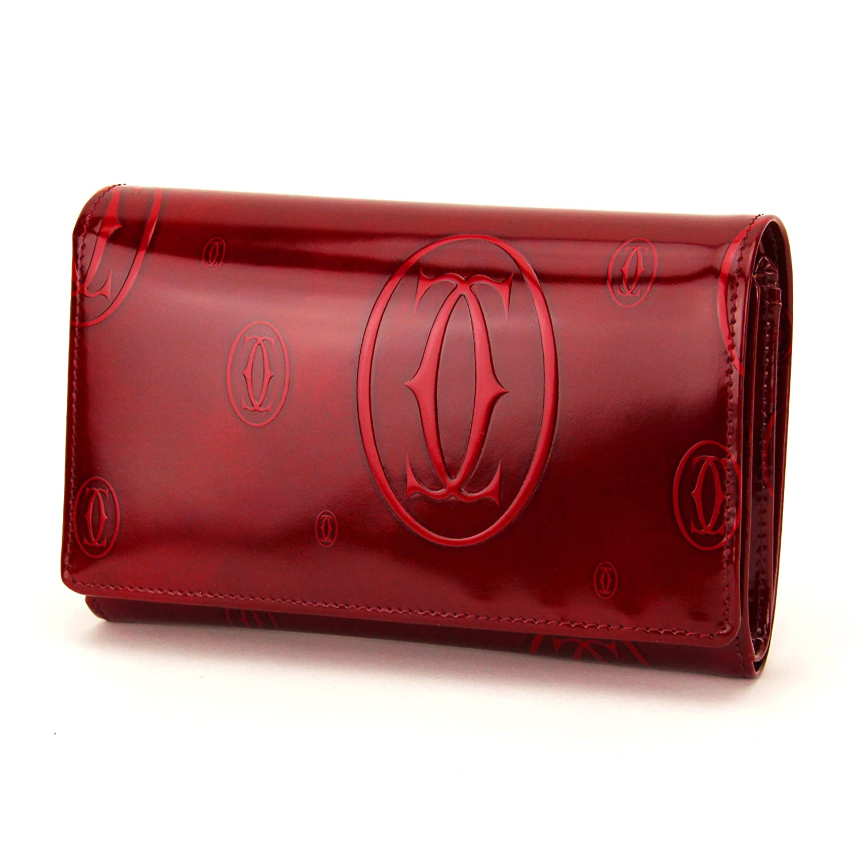 CARTIER L3000347 ハッピー バースデー コンパクト ワレット カルティエ 二折財布 カーフスキン ボルドー (並行輸入) B005LTQIEW