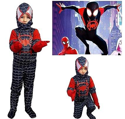 pequeños monelli traje Spiderman Negro Niño Un Nuevo ...