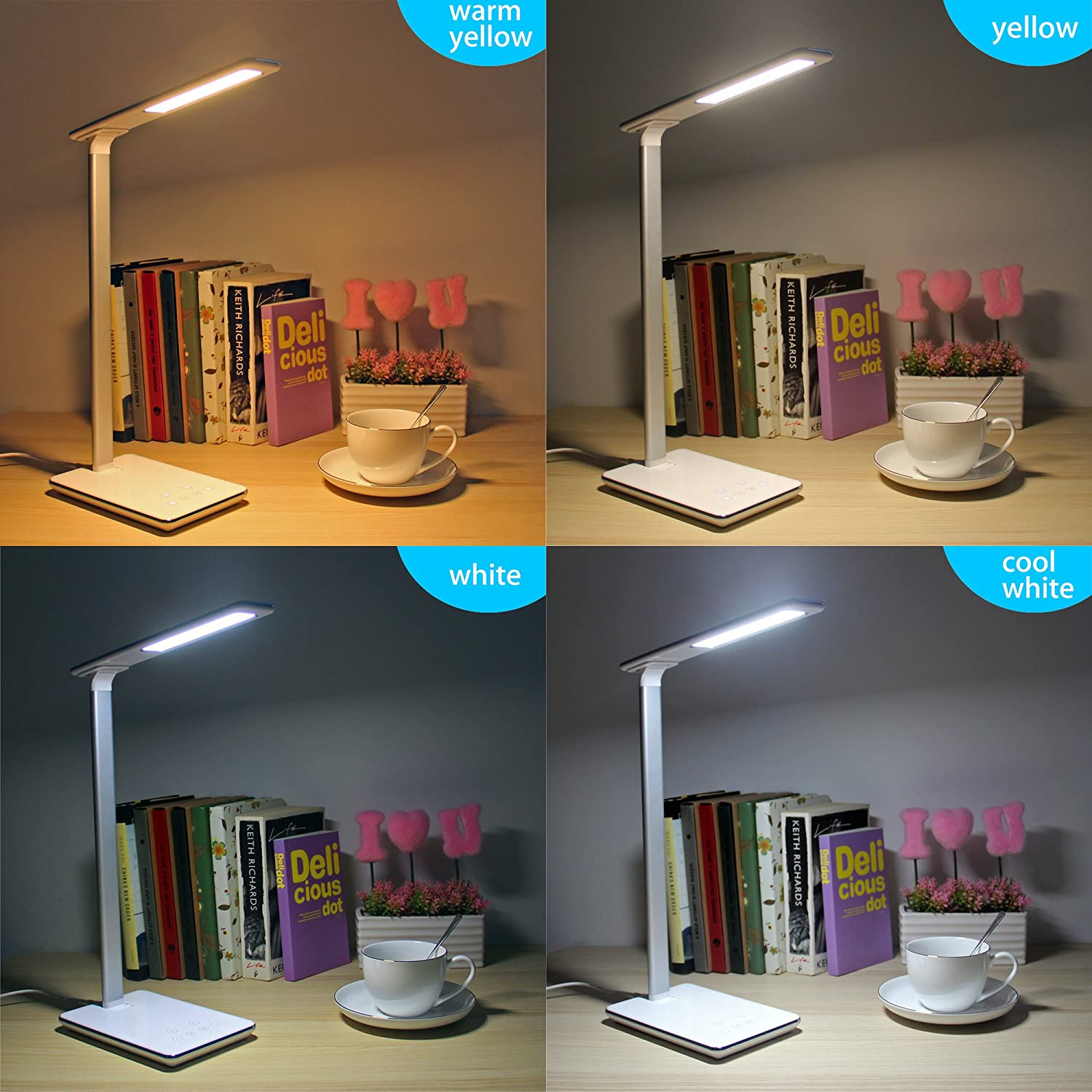 bedside table lamps lofter 48 leds dimmable folding touch eye