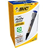 Bic Marking 2000 Ecolutions Marcatore Permanente, Confezione da 12 Pezzi, Blu