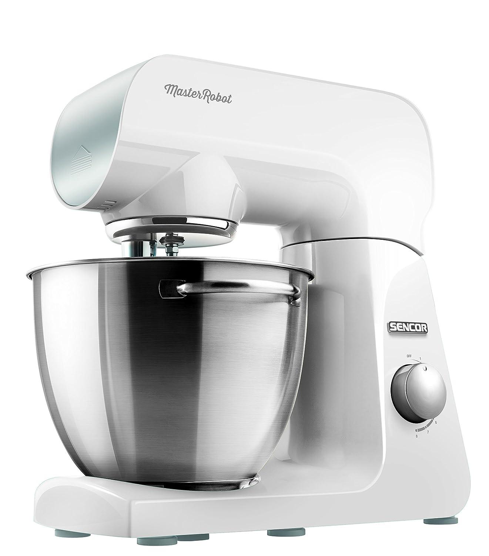 Sencor STM 40WH-Robot de Cocina (8 velocidades, 1 000 W)), 1000 W, Acero Inoxidable, Blanco: Amazon.es: Hogar