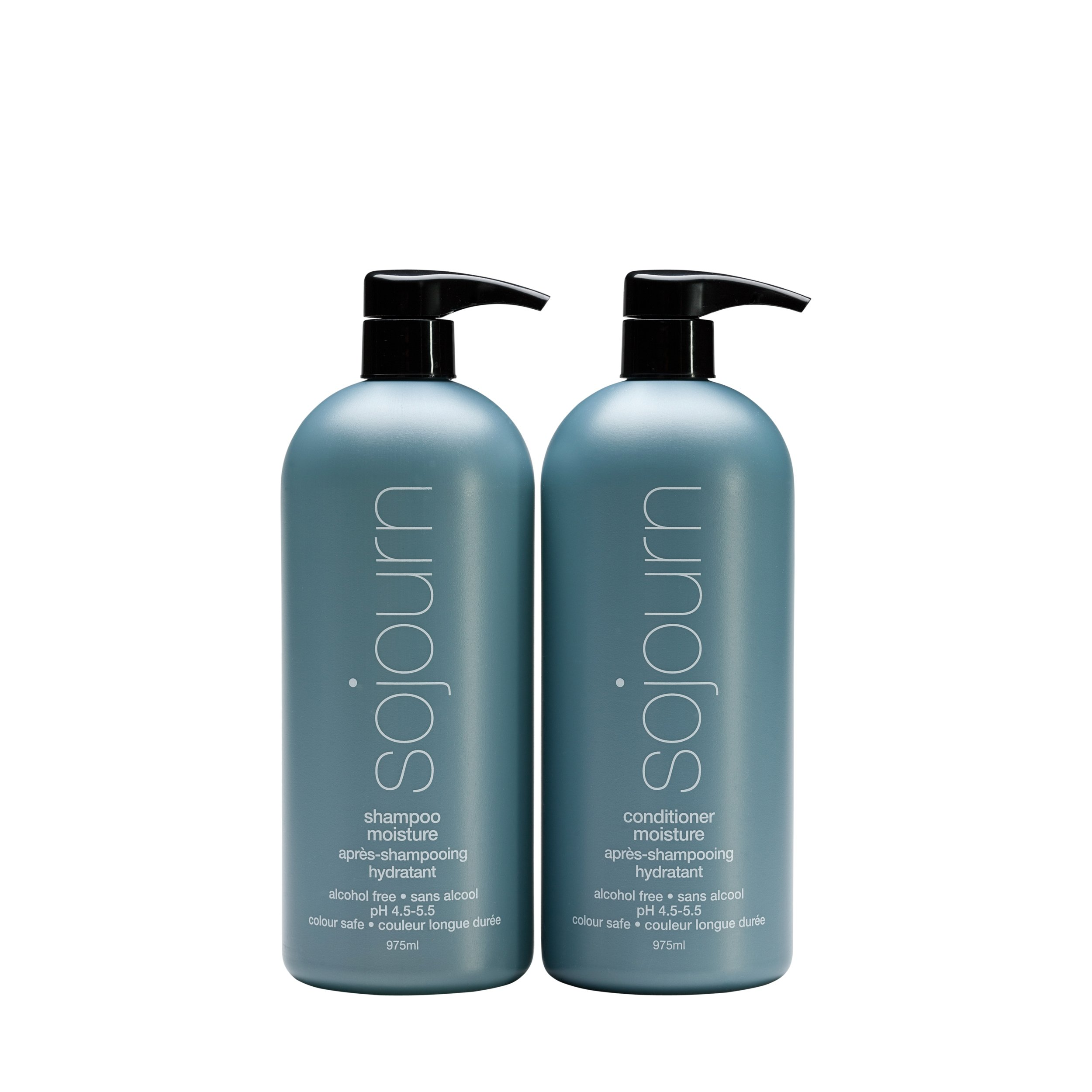 Sojourn Moisture Organic Shampoo and Conditioner Due Set With Optimal Hydration For Normal, Dry, Curly Or Thick Hair, (975ml/33 fl oz each) Color Safe, Professional Salon Recommended…