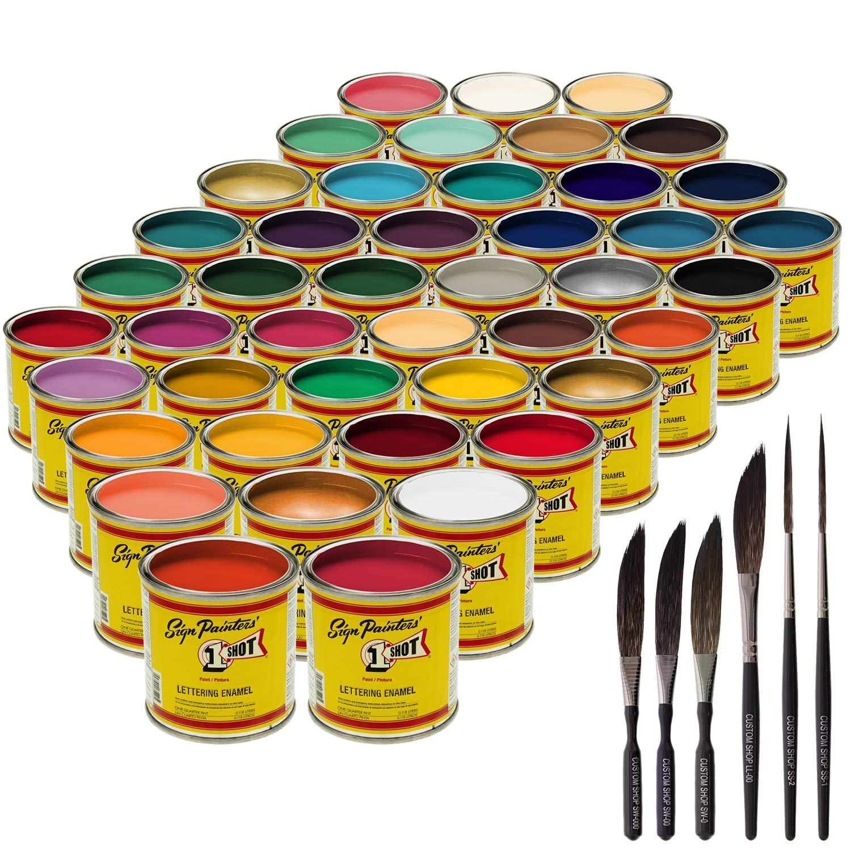 1-One-Shot Lettering Enamel/Pinstripe 44 Paint Colors