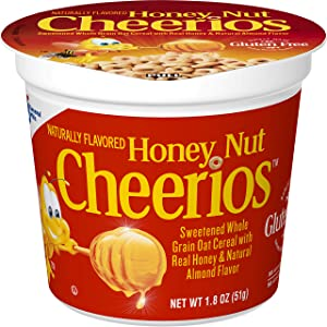Honey Nut Cheerios Cups, Cereal with Oats, Gluten Free, 1.8 oz