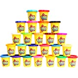 KIDDY DOUGH Compound Color Modeling and Sculpting Playset with 24 Individual 3-Ounce Cans – Exclusive Bulk Party Pack