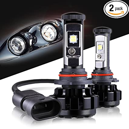 LED Headlight Bulbs 9006 CREE Chips All-in-One Conversion Kit,12000 Lumen  6000K Cool White Anti-flicker Fit for High Beam Low Beam Fog Car Lights