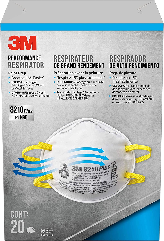 3m disposable respirators advanced filter paint prep 20 masks n95