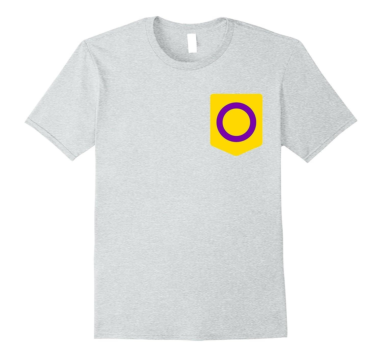 Intersex Flag Shirt, LGBT Pride Pocket Print-FL