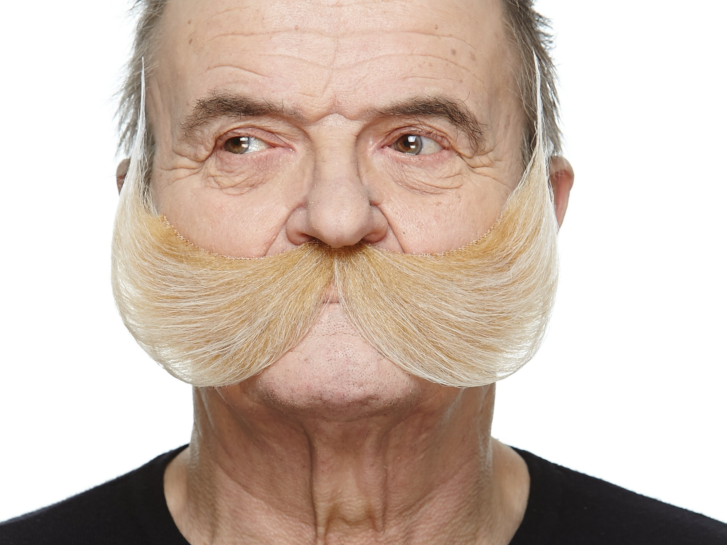 Mustaches Self Adhesive, Novelty, Fake Fisherman's, Blond Color