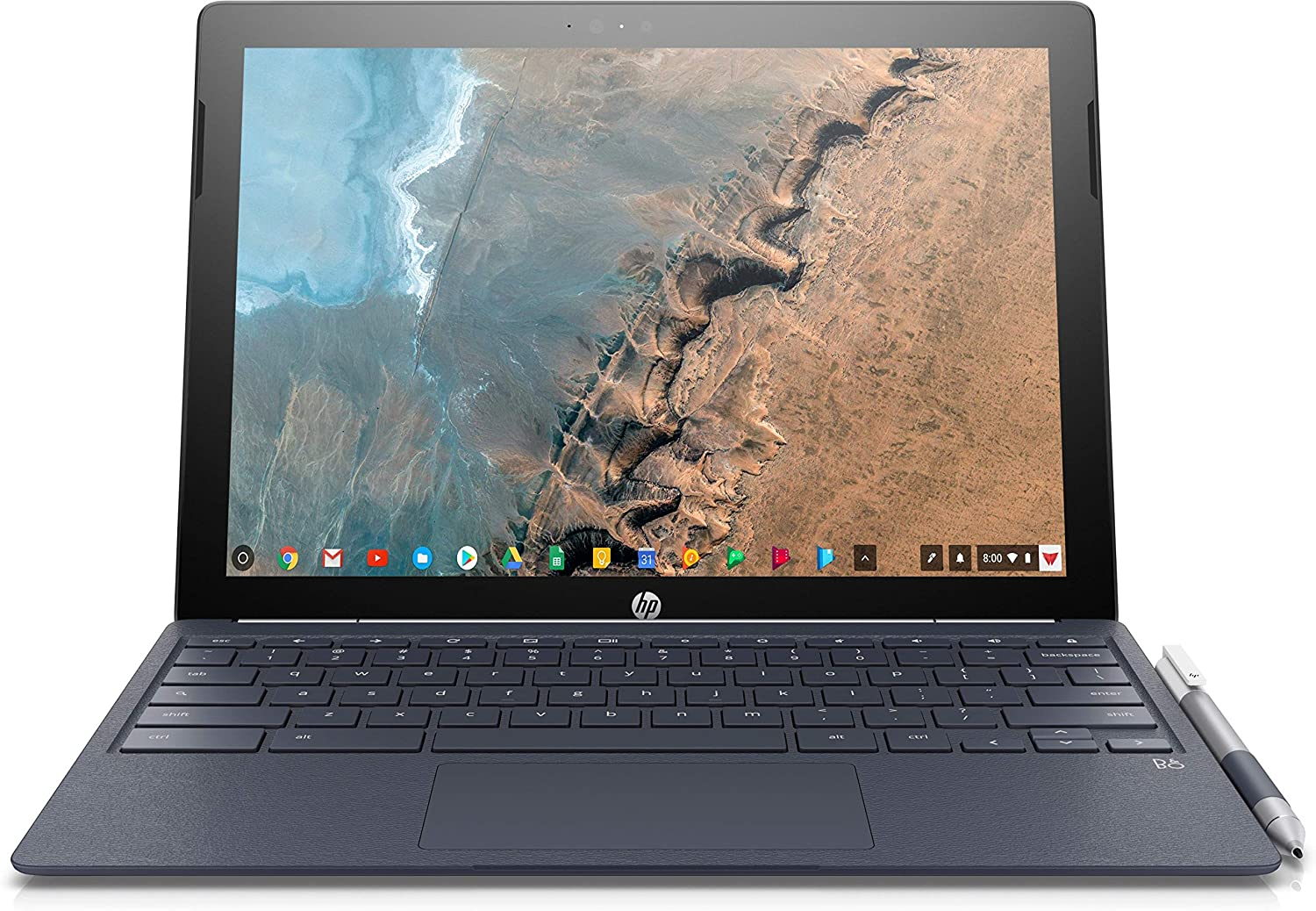 "HP 2-in-1 12.3"" Touch-Screen Chromebook Intel Core M - 4GB Memory - 32GB eMMC Flash Memory (X2 12-F014D) White - New"