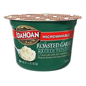 Idahoan Roasted Garlic Mashed Potatoes, Made with Gluten-Free 100-Percent Real Idaho Potatoes, 1.5 oz Cup (Pack of 10)