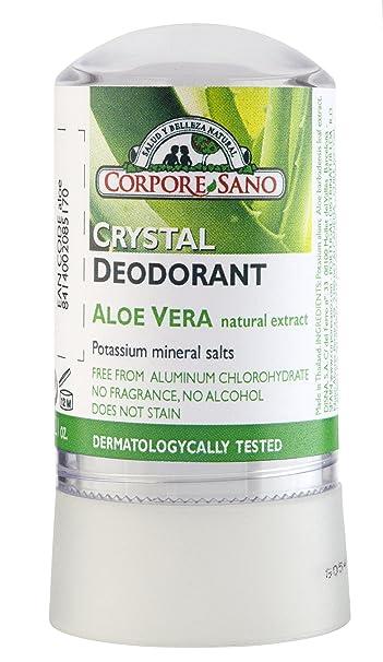 Amazon.com: Corpore Sano vidrio mineral Desodorante Aloe ...