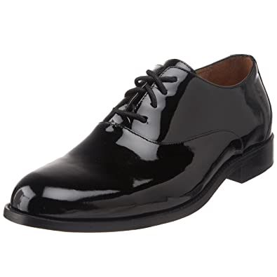 Florsheim Men's Kingston Oxford,Black Patent,7 3E US