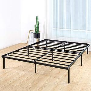 BedStory Full Bed Frame, 14 Inch Metal Platform Bed Frame Full, Easy Assembly Mattress Foundation, No Box Spring Needed, No Noise, Non-Slip Design - Full Size