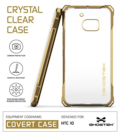 htc 10 case gold. htc 10 case, ghostek covert series for premium impact slim hybrid protective armor htc case gold