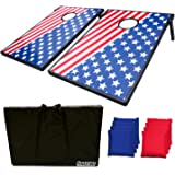 Sports Festival CornHole Board Bean Bag Toss Game Set and Tic Tac Toe 2 Games In 1