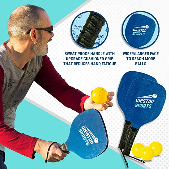 Amazon.com: Westop Sports Pickleball Paddle Set – Los ...