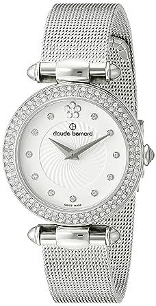 Claude Bernard Women's 20504 3PM APN2 Dress Code Analog Display Swiss  Quartz Silver Watch