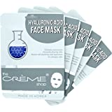 The Crème Shop Korean Skincare Beauty Full Facial Advanced Sheet Daily Natural Essence easy-to-use Soothing - Hyaluronic Acid Face Sheet Mask 5 Piece Set