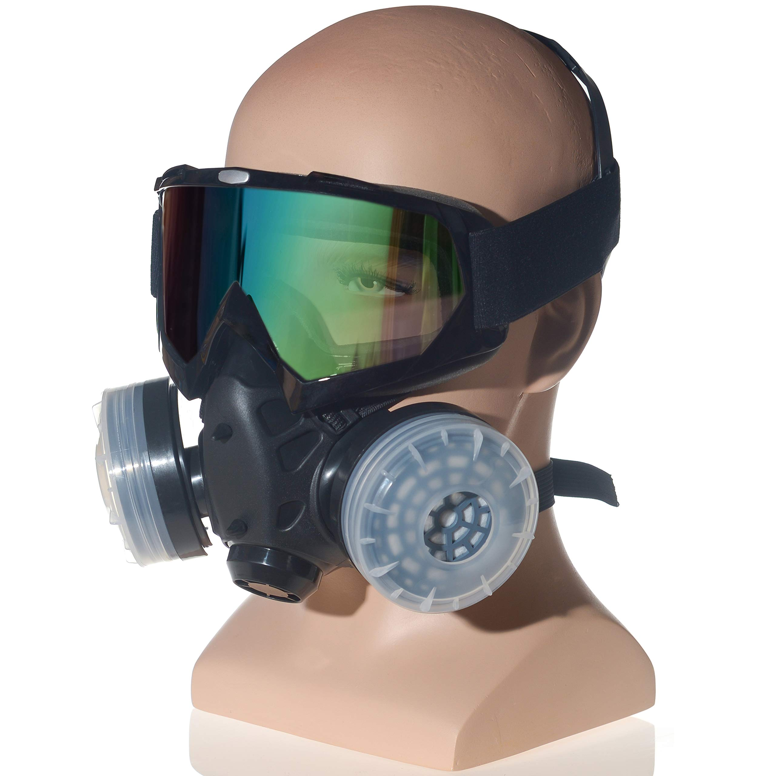 HXMY Anti-Dust Paint Respirator Reusable Face Mask Goggles Set by HXMY (Image #1)