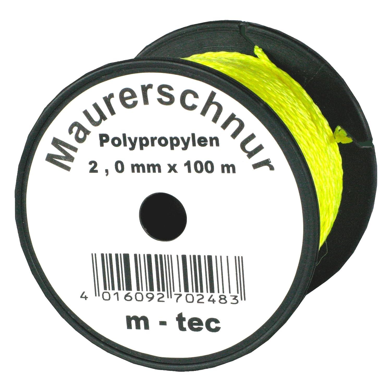 Lot-Maurerschnur 100 m x Ø 2, 0 mm Gelb-Fluoreszierend bauCompany24