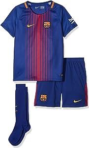 Nike 2017-2018 Barcelona Home Little Boys Mini Kit